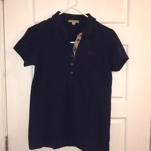 Burberry women's navy polo size small